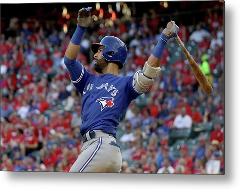 Three Quarter Length Metal Print featuring the photograph Division Series - Toronto Blue Jays V by Ronald Martinez