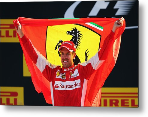 People Metal Print featuring the photograph F1 Grand Prix of Italy by Bryn Lennon