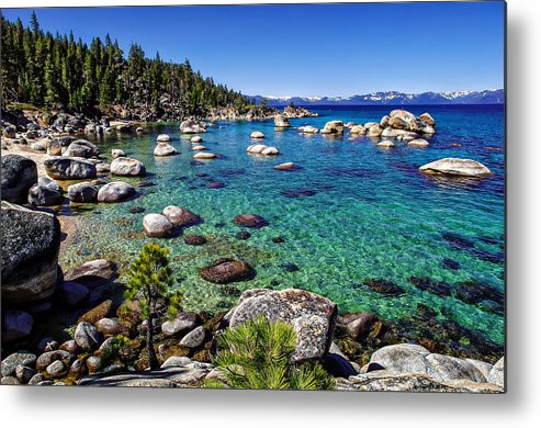 Blue Sky Metal Print featuring the photograph Lake Tahoe Waterscape by Scott McGuire