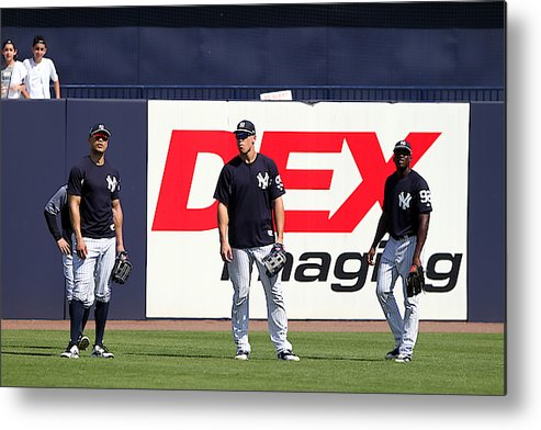 American League Baseball Metal Print featuring the photograph MLB: FEB 20 Spring Training - Yankees Workout by Icon Sportswire