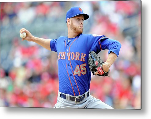 Second Inning Metal Print featuring the photograph New York Mets V Washington Nationals by Greg Fiume