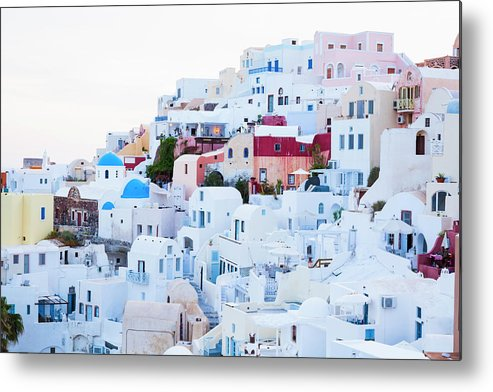Tranquility Metal Print featuring the photograph Oia by Jorg Greuel