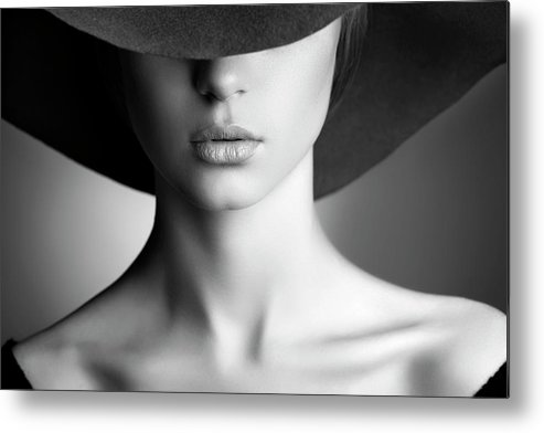 People Metal Print featuring the photograph Photo Of Beautiful Woman In Retro Style by Coffeeandmilk