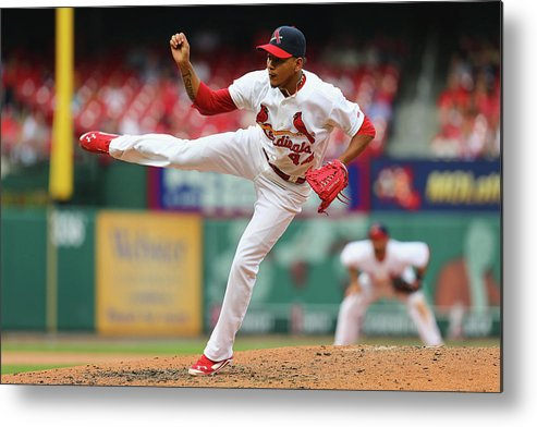 St. Louis Cardinals Metal Print featuring the photograph Pittsburgh Pirates V St. Louis Cardinals by Dilip Vishwanat