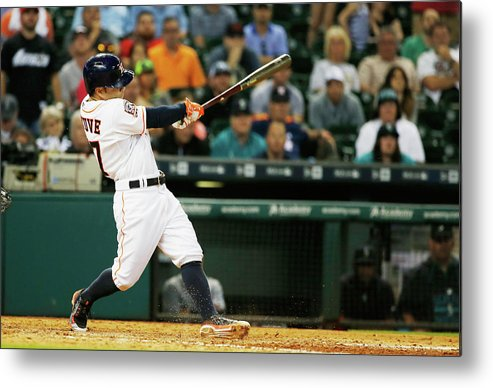 People Metal Print featuring the photograph Seattle Mariners V Houston Astros by Scott Halleran