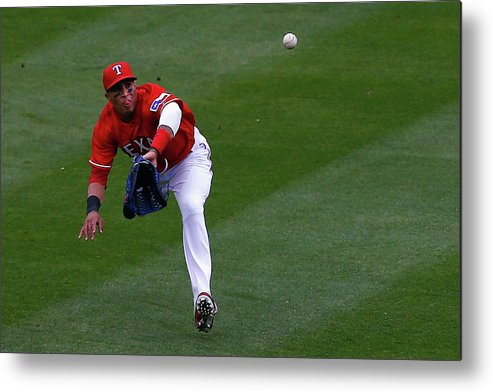 American League Baseball Metal Print featuring the photograph Seattle Mariners V Texas Rangers by Tom Pennington