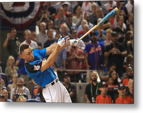 Three Quarter Length Metal Print featuring the photograph T-Mobile Home Run Derby by Mike Ehrmann