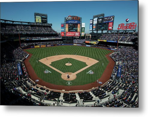 East Metal Print featuring the photograph Washington Nationals V. New York Mets by Rob Tringali