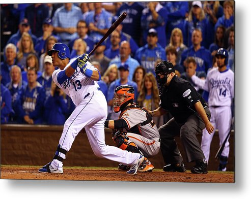 Game Two Metal Print featuring the photograph World Series - San Francisco Giants V by Dilip Vishwanat