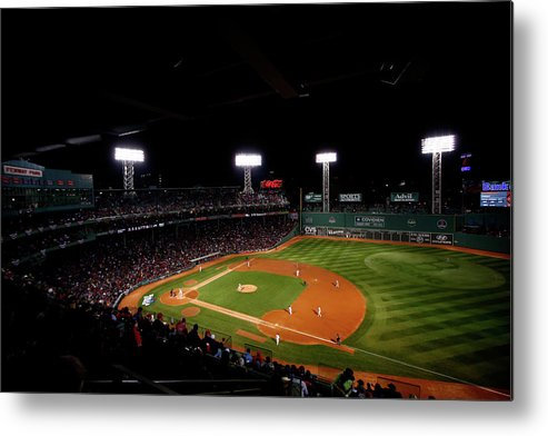 American League Baseball Metal Print featuring the photograph World Series - St Louis Cardinals V by Jared Wickerham