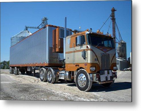 CANVAS Sunlit Semi Truck Art print POSTER