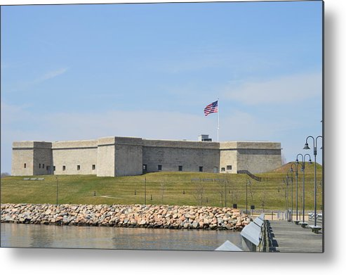 Fort Metal Print featuring the photograph Fort Trumbull by Jessica Cruz