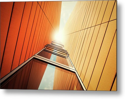 Corporate Business Metal Print featuring the photograph Futuristic Office Building by Ppampicture