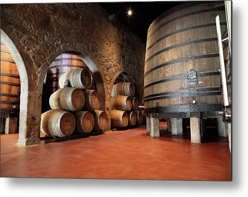 Fermenting Metal Print featuring the photograph Porto Wine Cellar by Vuk8691