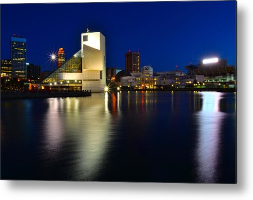 Rock Metal Print featuring the photograph Rock Hall of Fame by Frozen in Time Fine Art Photography