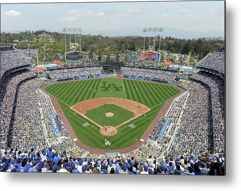 American League Baseball Metal Print featuring the photograph San Francisco Giants V Los Angeles by Harry How