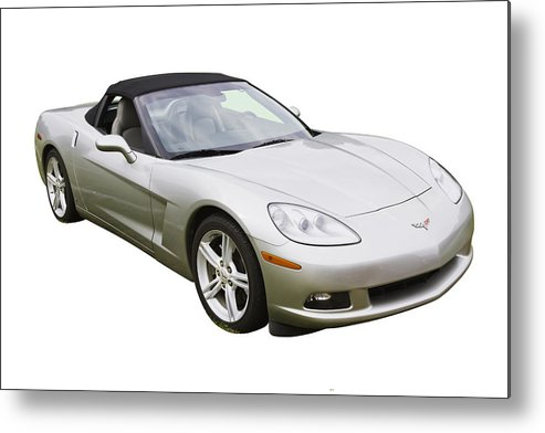Car Metal Print featuring the photograph 2007 Chevrolet Corvette C6 Convertible by Keith Webber Jr