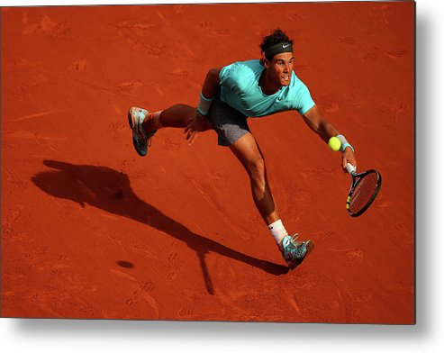 Tennis Metal Print featuring the photograph 2014 French Open - Day Fifteen by Clive Brunskill
