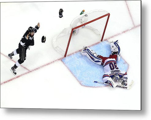 Playoffs Metal Print featuring the photograph 2014 Nhl Stanley Cup Final - Game Five by Bruce Bennett