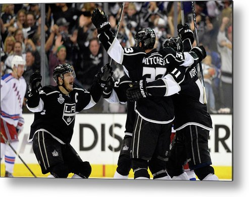 Playoffs Metal Print featuring the photograph 2014 Nhl Stanley Cup Final - Game Two by Harry How