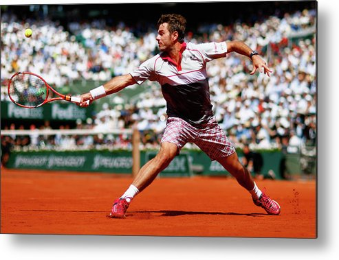 Tennis Metal Print featuring the photograph 2015 French Open - Day Fifteen by Julian Finney