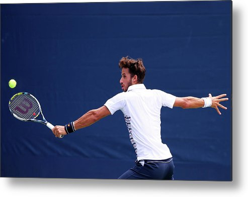 Tennis Metal Print featuring the photograph 2015 U.s. Open - Day 1 by Elsa