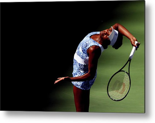 Tennis Metal Print featuring the photograph 2015 U.s. Open - Day 7 by Clive Brunskill