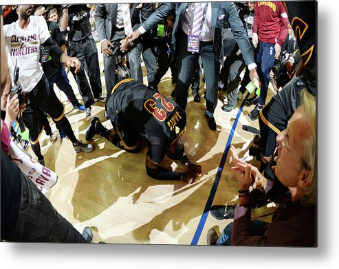 Playoffs Metal Print featuring the photograph 2016 Nba Finals - Game Seven by Andrew D. Bernstein