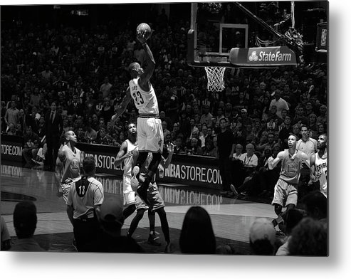 Nba Pro Basketball Metal Print featuring the photograph 2016 Nba Finals - Game Three by Jesse D. Garrabrant
