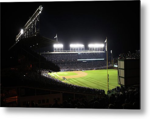 Playoffs Metal Print featuring the photograph 2016 World Series - Cleveland Indians by Rob Tringali