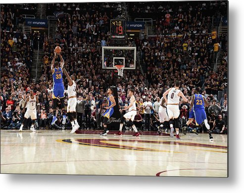 Playoffs Metal Print featuring the photograph 2017 Nba Finals - Game Three by Andrew D. Bernstein