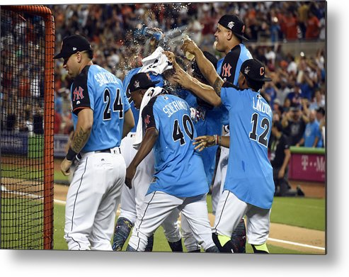 American League Baseball Metal Print featuring the photograph 2017 T-Mobile Home Run Derby by LG Patterson