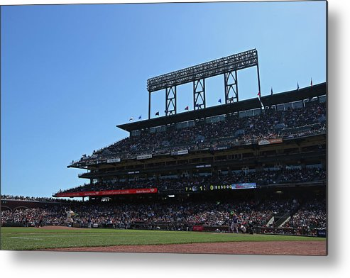 San Francisco Metal Print featuring the photograph Colorado Rockies V. San Francisco Giants by Brad Mangin
