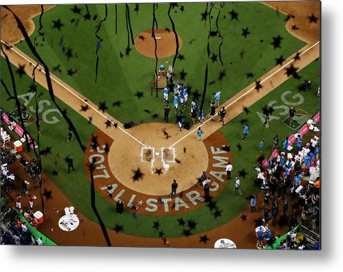 People Metal Print featuring the photograph T-Mobile Home Run Derby by Mike Ehrmann