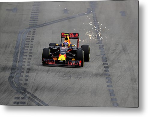 Formula One Grand Prix Metal Print featuring the photograph F1 Grand Prix of Singapore - Qualifying by Clive Mason