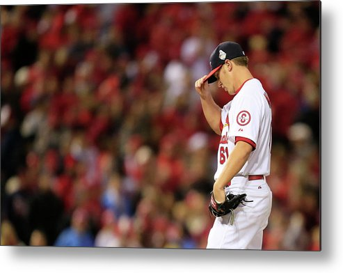 St. Louis Cardinals Metal Print featuring the photograph World Series - Boston Red Sox V St by Dilip Vishwanat