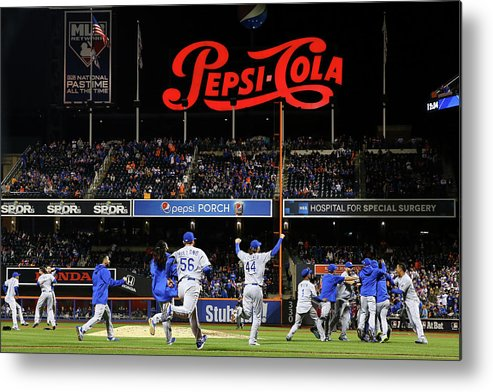 American League Baseball Metal Print featuring the photograph World Series - Kansas City Royals V New by Al Bello