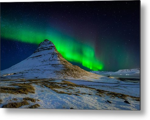 Photography Metal Print featuring the photograph Aurora Borealis Or Northern Lights by Panoramic Images