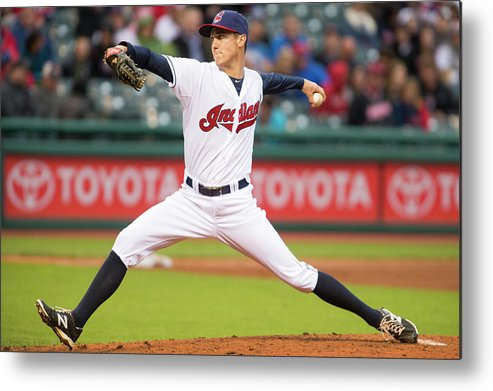 Second Inning Metal Print featuring the photograph Oakland Athletics V Cleveland Indians by Jason Miller