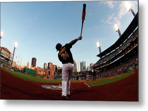 Professional Sport Metal Print featuring the photograph St Louis Cardinals V Pittsburgh Pirates by Justin K. Aller