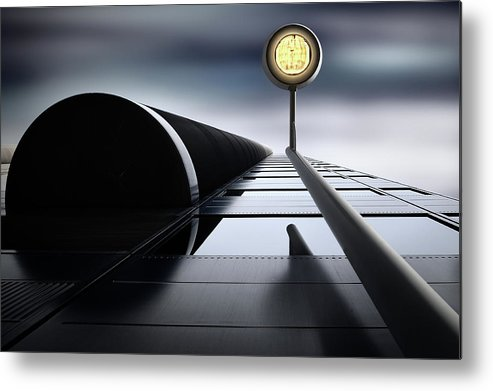 Architecture Metal Print featuring the photograph A Hopeful Light by Dr. Akira Takaue