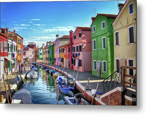 Tranquility Metal Print featuring the photograph A Tour Of Burano by Diego Gutierrez
