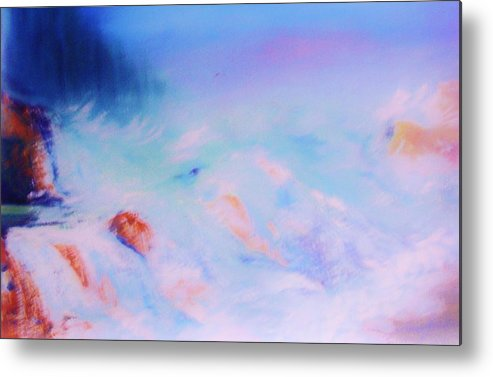 Nature Metal Print featuring the painting Abstract Sea by Lorenzo Roberts