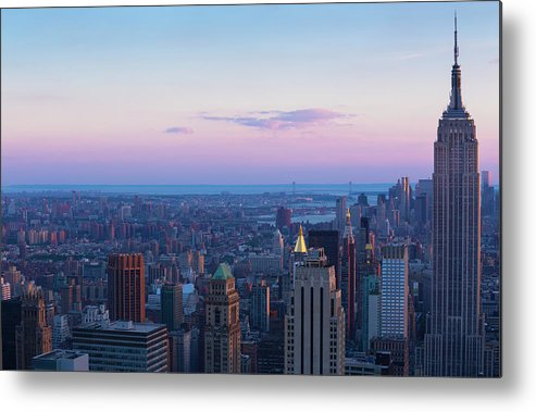 Tranquility Metal Print featuring the photograph Aerial View Of Empire State And Midtown by Future Light