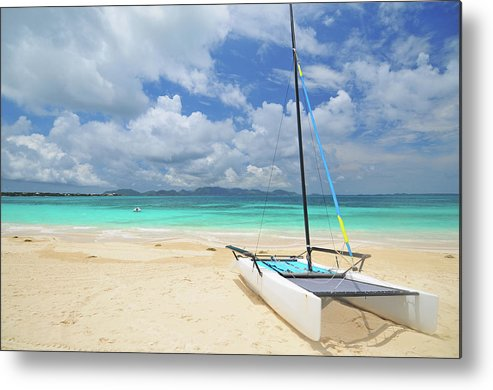 Sailboat Metal Print featuring the photograph Anguilla Beach by Maxian