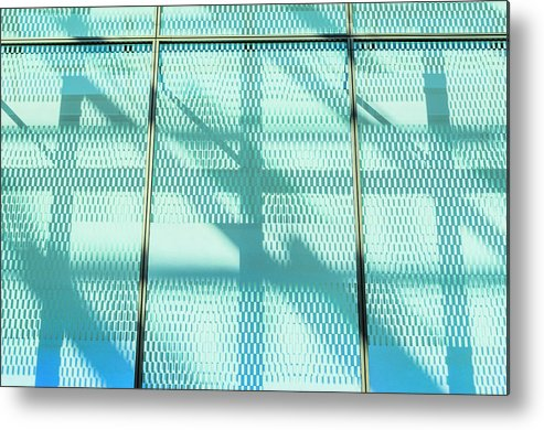 Berlin Metal Print featuring the photograph Architectural Detail Of Modern Shopping by Ingo Jezierski