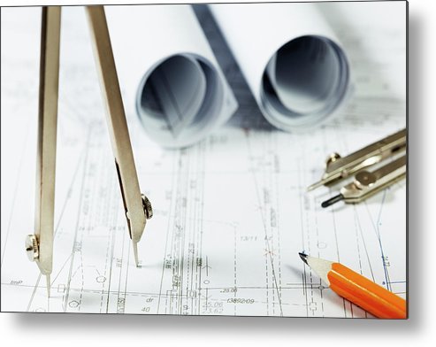 Civil Engineering Metal Print featuring the photograph Architecture Planning by Kalasek