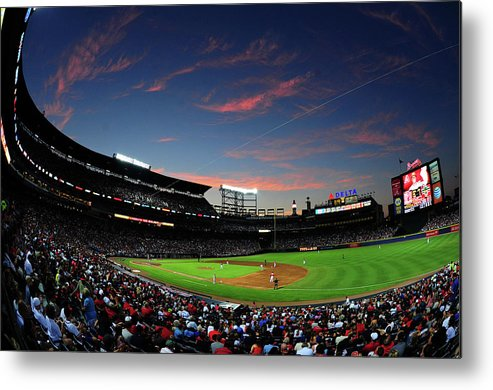 Atlanta Metal Print featuring the photograph Arizona Diamondbacks V Atlanta Braves by Scott Cunningham