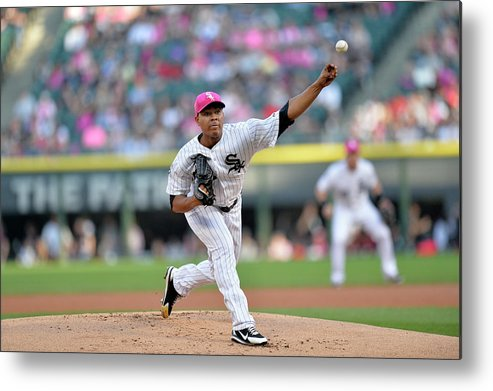 American League Baseball Metal Print featuring the photograph Arizona Diamondbacks V Chicago White Sox by Brian Kersey