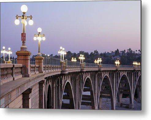 Arch Metal Print featuring the photograph Arroyo Seco Bridge Pasadena by S. Greg Panosian